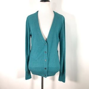 CAbi 3018 S Tearoom Cardigan Teal Blue